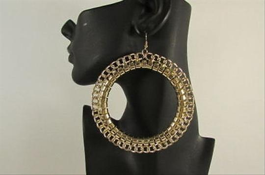 Other Women 4 Big Chunky Gold Metal Chain Fashion Earrings Set Lightweight