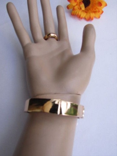Other Women Big Gold Cross Metal Hand Chain Slave Bracelet Ring Silver