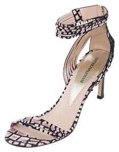 Emporio Armani High-end Mid-heel Beige Black Sandals