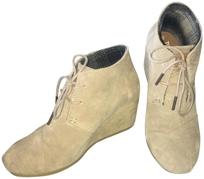 Item - Taupe Desert Wedge Boots/Booties Size US 7 Regular (M, B)