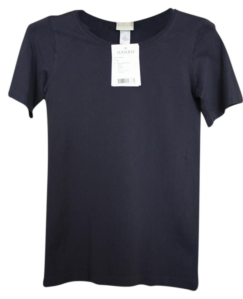 Hanro style 1815 t shirt midnight deep navy blue 52 for Navy blue color shirt