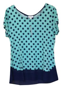 Charming Charlie Top mint green/navy