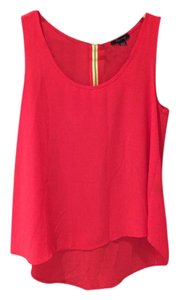 Timing Basic Zipper Back Flare Top Blood Orange/Yellow