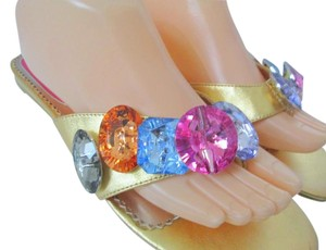 Poetic License Leather Beaded Sandal Gold Sandals