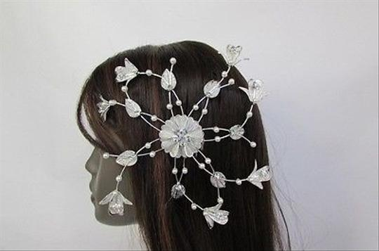 Other Women Silver Metal 88 Flower Leaves Rhinestone Large Head Fashion Jewelry