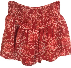 Zara Skort Crimson and cream paisley