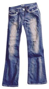 Daytrip Leo Buckle Boot Cut Jeans-Distressed