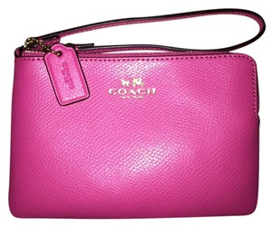 Coach Wristlet in Bright Pink