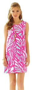 Lilly Pulitzer short dress Capri Pink Papaya Playa Preppy Shift on Tradesy