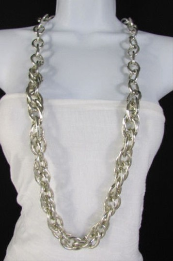 Other Women Gold Silver Chunky Thick Chain Links Fashion Necklace