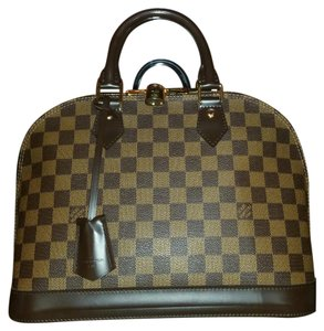 Louis Vuitton Bags Alma Moon Shoulder Satchel in Damier Ebene