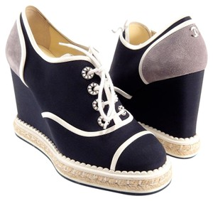 Chanel Espadrilles Oxford Colorblock Oxford 36 blue Wedges