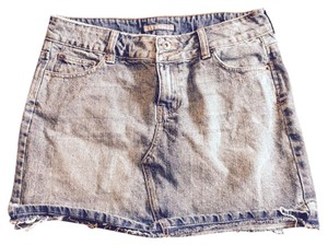 Apt. 9 Denim Mini Skirt Acid wash blue