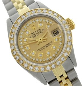 Rolex Rolex Datejust 69173 Champagne String Diamond Dial Watch