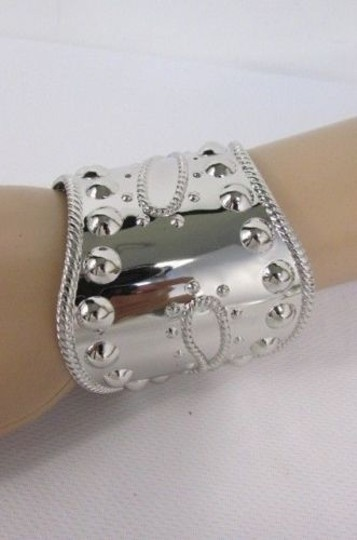 Other Women Bracelet Studs Cuff Wave Metal Bangle Jewelry Wristband