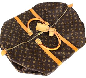 Louis Vuitton Keepall Monogram Keepall 55 Brown Travel Bag