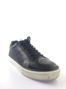 Black/Grey Leather/Suede Sneakers Shoes