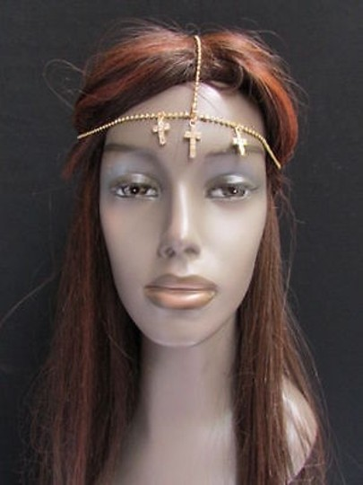 Other Women Head Metal Crosses Gold Jewelry Grecian Hair