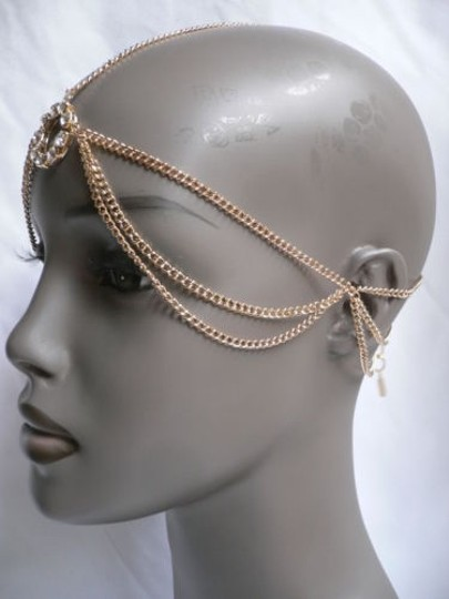 Other Women Head Fashion Gold Jewelry Grecian Circlet Rhinestones Ring