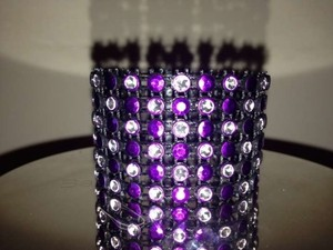 Purple/Silver 36 Napkin Rings Reception Decoration