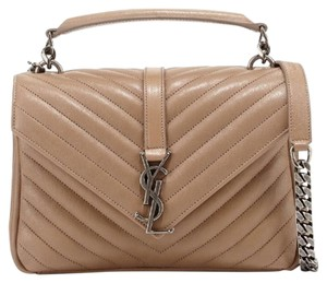 Saint Laurent Satchel in Taupe