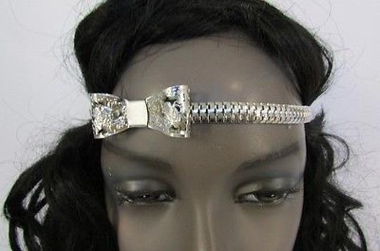 Other Women Elastic Band Forehead Head Chain Jewelry Bow