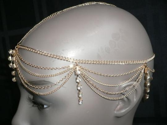 Other Women Head Metal Chain Gold Stones Grecian Hair Accessories Band