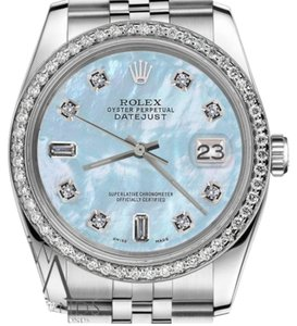 Rolex Women's 31mm Datejust Baby Blue MOP Mother Of Pearl Watch