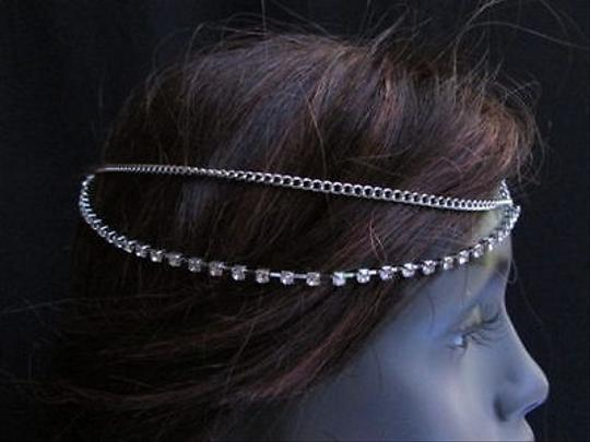 Other Women Silver Head Metal Chain Trendy Jewelry Grecian Frings Hair Accessories