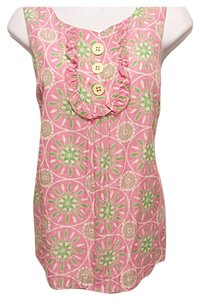 Lilly Pulitzer Top Pink & Mint