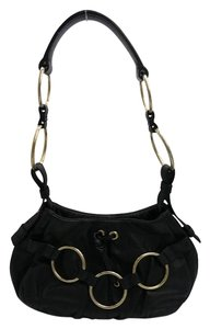 Saint Laurent Ysl Ysl Hobo Metal Hoops Shoulder Bag
