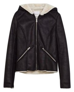 Zara Women Hooded Nwt Black Jacket