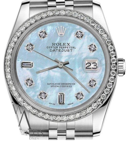 Rolex Women S 31mm Datejust Baby Blue Mother Of Pearl 8 2