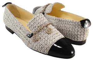 Chanel Loafers Slip On white Flats