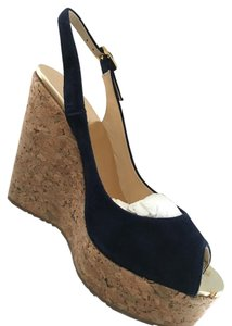 Jimmy Choo Navy Wedges