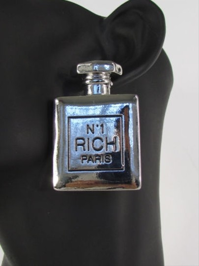 Other Women Silver Perfume Bottle N 1 Rich Paris Fashion Earrings Set