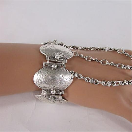 Other Women Trendy Silver Metal Hand Chains Fashion Slave Wrist Bracelet Ring Made