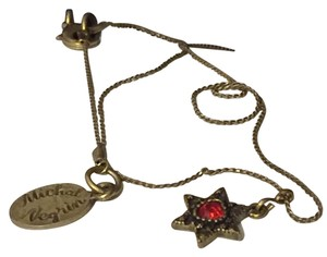 Michal Negrin Michal Negrin Red Ruby Star Pendant In Box