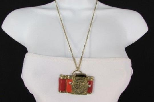 Other Women Gold Metal Chains Necklace Old Fashion Collector Camera