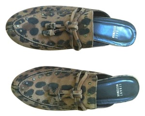 Stuart Weitzman Waterproof Stylish Slipon Cheetah Mules