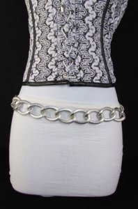 Other Women Silver Gold Chunky Metal Thick Chain Links Fashion Belt 38-42