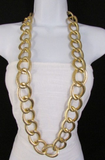 Other Women Silver Gold Chunky Metal Thick Chain Links Belt