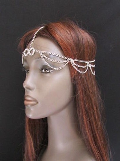 Other Women Silver Head Body Chain Grecian Circlet Silver Beads