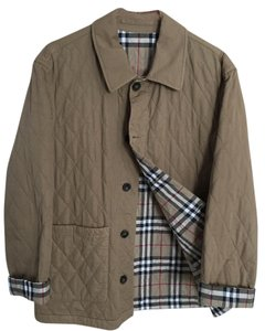 Burberry London Cotton Quilted Tan Jacket