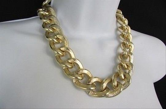 Other Women Fashion Gold Necklace Earrings Set Chunky Thick Chains