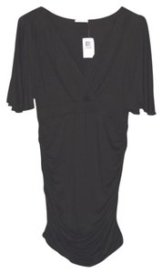 MaiTai Surplice Top Ruched Crossover Top Flutter Sleeve Dress