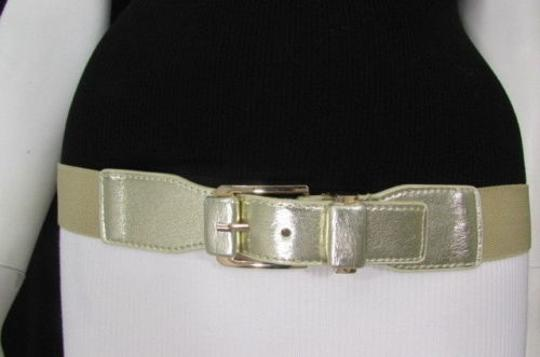 Other Women Elastic Waist Hip Fashion Belt 25-35 Black Brown Gold Silver