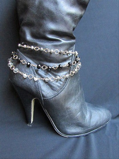 Other Women 1 Strap Gold Anklet Chains Boot Silver Black Pewter Beads Bracet Charm