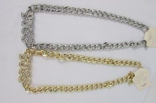 Other Women Boss Necklace Gold Pendant Fashion Silver Rhinestones