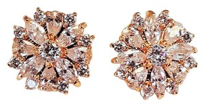Brillaint Cz Gold Plated Stud Earrings
